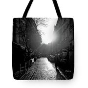 Evening Walk In Paris Bw Tote Bag