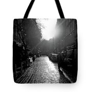 Evening Walk In Paris Bw Squared Tote Bag