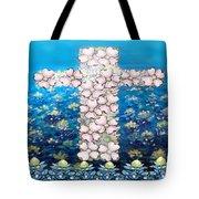 Cross Of Flowers Tote Bag