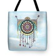 Peace Kite Dangle Illustration Art Tote Bag