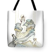 The Princess And The Pea, Illustration For Classic Fairy Tale Tote Bag