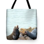 Boisterous Pinnipeds Tote Bag