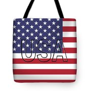 Usa On The American Flag Tote Bag