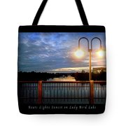 Boat, Lights, Sunset On Lady Bird Lake Tote Bag