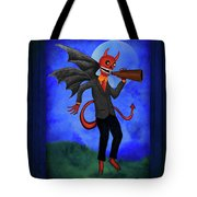 The Devil Appeared To Me Growling Through An Old Megaphone Tote Bag