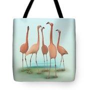 Flamingo Mingle Tote Bag