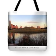 Birds And Fun At Butler Park Austin - Silhouettes 1 Poster And Greeting Card Tote Bag