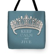 Keep Calm And Jive Diamond Tiara Turquoise Texture Tote Bag