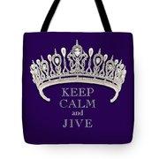 Keep Calm And Jive Diamond Tiara Deep Purple  Tote Bag
