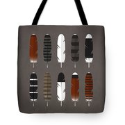 Raptor Feathers - Square Tote Bag by Peter Green
