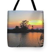 Sunset West Of Myers Bagels Vertical Tote Bag
