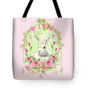 Spring Bunny Tote Bag by Wendy Paula Patterson