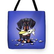 Dapple Doxie Destroyer Tote Bag