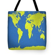 Abstract World Map 0317 Tote Bag