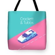 Miami Vice Crockett Tubbs - Aqua Tote Bag