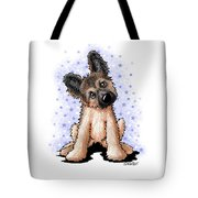 Curious Shepherd Puppy Tote Bag
