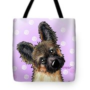 Kiniart Shepherd Puppy Tote Bag