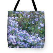 White Blue Cluster Tote Bag