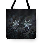 Snowflake Photo - When Winters Meets Tote Bag by Alexey Kljatov