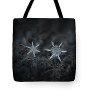 Snowflake Photo - When Winters Meets Tote Bag by Alexey Kljatov