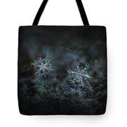 Snowflake Photo - When Winters Meets - 2 Tote Bag by Alexey Kljatov