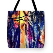 Indian Summer Watercolour Framed Handmade Painting Tote Bag