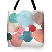 Teal And Coral Abstract Watercolor  Tote Bag