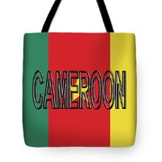 Flag Of Cameroon Word. Tote Bag