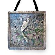 Silver Lake Snowy Egret Tote Bag