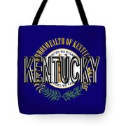 Flag Of Kentucky  Word Tote Bag