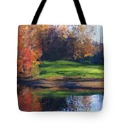 Autumn By Water Tote Bag by Ivana Westin