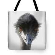 Suspicious Emu Stare Tote Bag