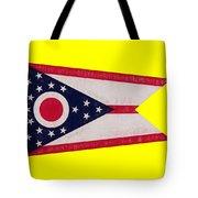 Flag Of Ohio Grunge Tote Bag