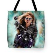 Steven Tyler On A Bike Tote Bag