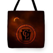 1339 - Solar Eclipse - Red Clouds Tote Bag