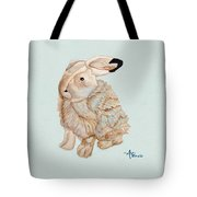 Cuddly Arctic Hare II Tote Bag
