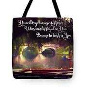 Perfect Peace Tote Bag