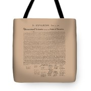 The Declaration Of Independence Tote Bag