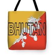 Flag Of Bhutan Word Tote Bag