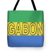 Flag Of Gabon Word. Tote Bag