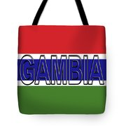 Flag Of The Gambia Word. Tote Bag