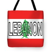 Flag Of Lebanon Word Tote Bag