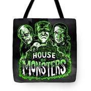 House Of Monsters Frankenstein Dracula Phantom Horror Movie Art Tote Bag