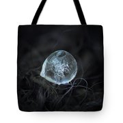 Drop Of Ice Rain Tote Bag