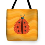 Orange Ladybug Masked As Autumn Leaf Tote Bag