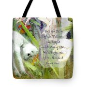 The Lily Of The Valley - Lyrics Tote Bag
