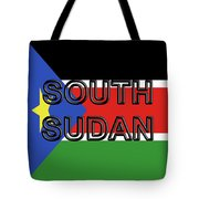 Flag Of  South Sudan Word Tote Bag