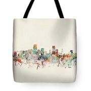 Miami Florida City Skyline Tote Bag