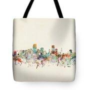 Miami Florida City Skyline Tote Bag