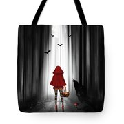 Little Red Riding Hood And The Wolf Tote Bag